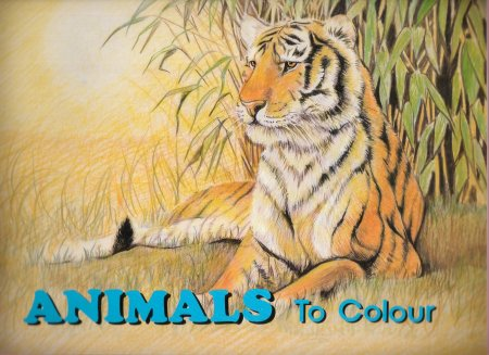 Full page color illustration of an animal followed by full page of that